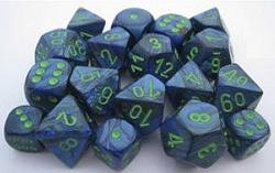 Buy Lustrous D6 12mm Dark Blue w/green (36CT) in AU New Zealand.