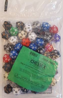 Buy Bag of 50 Opaque Assorted D20's in AU New Zealand.