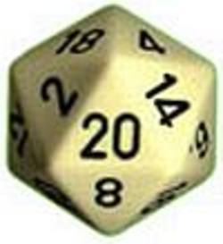 Buy Opaque Jumbo 34mm D20 Ivory with Black in AU New Zealand.