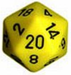 Buy Opaque Jumbo 34mm D20 Yellow with Black in AU New Zealand.
