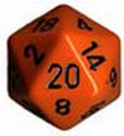 Buy Opaque Jumbo 34mm D20 Orange with Black in AU New Zealand.
