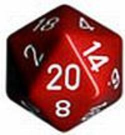 Buy Opaque Jumbo 34mm D20 Red with White in AU New Zealand.