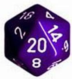 Buy Opaque Jumbo 34mm D20 Purple with White in AU New Zealand.