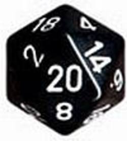 Buy Opaque Jumbo 34mm D20 Black with White in AU New Zealand.