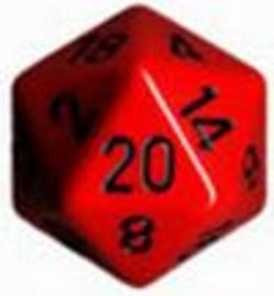 Buy Opaque Jumbo 34mm D20 Red with Black in AU New Zealand.