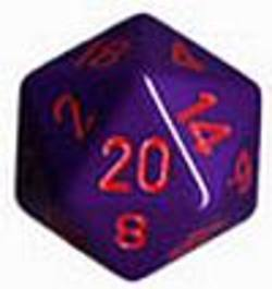Buy Opaque Jumbo 34mm D20 Purple with Red in AU New Zealand.