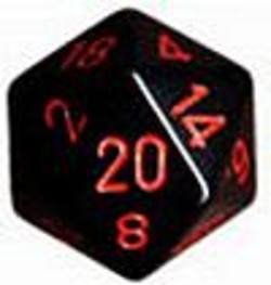Buy Opaque Jumbo 34mm D20 Black with Red in AU New Zealand.