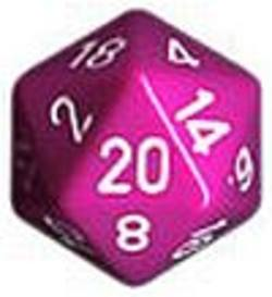 Buy Opaque Jumbo 34mm D20 Light Purple with White in AU New Zealand.