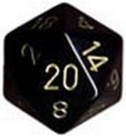 Buy Opaque Jumbo 34mm D20 Black with Gold in AU New Zealand.
