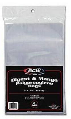 Buy BCW Digest / Manga Comic Bags in AU New Zealand.