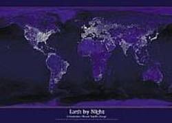Buy Earth By Night Poster in AU New Zealand.