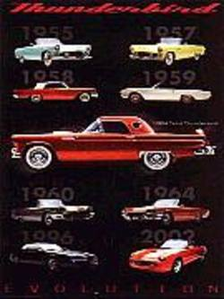 Buy Evolution Of The T-Bird Poster in AU New Zealand.