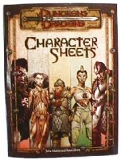 Buy Character Sheets DD3E
