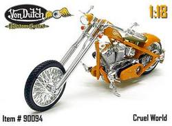 Buy Von Dutch: Cruel World Kustom Cycle 1/18th Scale in AU New Zealand.